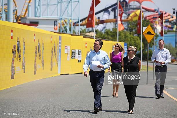Dreamworld CEO Craig Davidson arrives to address the media on November 9 2016 in Gold Coast Australia The Gold Coast theme park has been closed since...