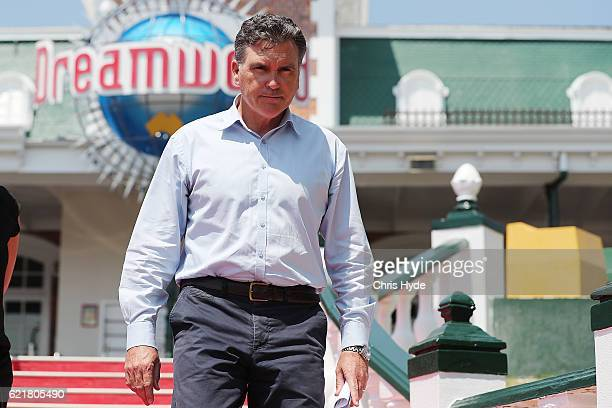 Dreamworld CEO Craig Davidson leaves after addressing the media on November 9 2016 in Gold Coast Australia The Gold Coast theme park has been closed...