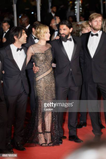 Drector Fatih Akin Diane Kruger Numan Acar Ulrich Brandhoff attend the 'In The Fade ' screening during the 70th annual Cannes Film Festival at Palais...