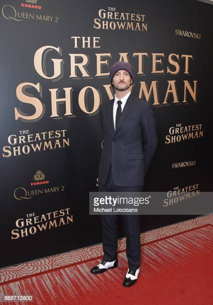Drector Michael Gracey attends the 'The Greatest Showman' World Premiere aboard the Queen Mary 2 at the Brooklyn Cruise Terminal on December 8 2017...