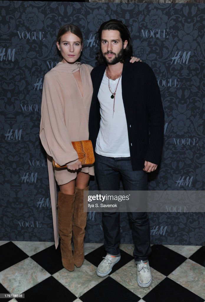 <a gi-track='captionPersonalityLinkClicked' href=/galleries/search?phrase=Dree+Hemingway&family=editorial&specificpeople=5650645 ng-click='$event.stopPropagation()'>Dree Hemingway</a> and Phil Winser attend H&M & Vogue Studios Celebrate 'Between The Shows' on September 6, 2013 in New York City.