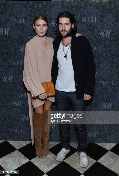 Dree Hemingway and Phil Winser attend HM Vogue Studios Celebrate 'Between The Shows' on September 6 2013 in New York City