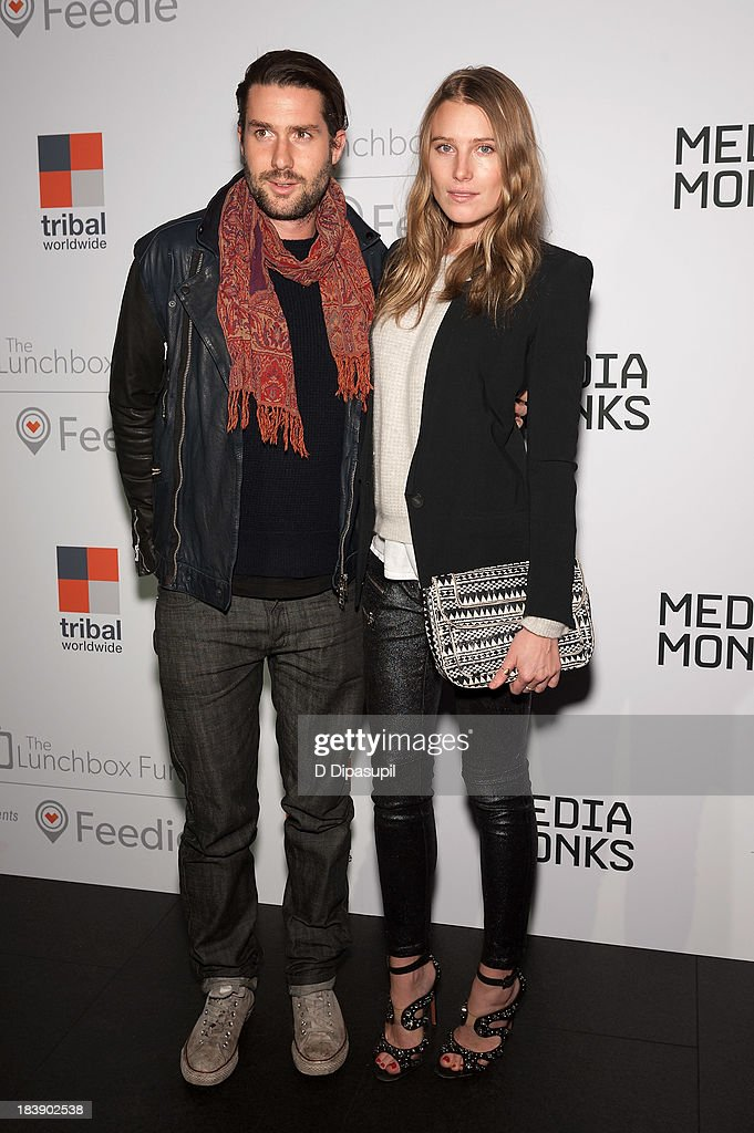 <a gi-track='captionPersonalityLinkClicked' href=/galleries/search?phrase=Dree+Hemingway&family=editorial&specificpeople=5650645 ng-click='$event.stopPropagation()'>Dree Hemingway</a> (R) and Phil Winser attend the Lunchbox Fund Fall Fete 2013 at Buddakan on October 9, 2013 in New York City.