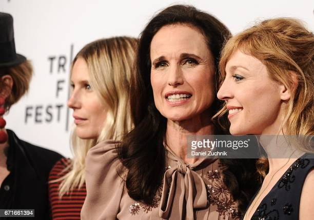Dree Hemingway Andie MacDowell and Juliet Rylance attend the 'Love After Love' premiere during the 2017 Tribeca Film Festival at SVA Theatre on April...
