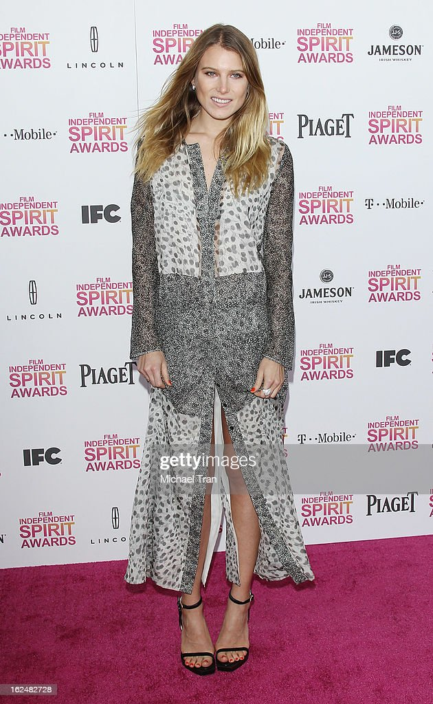 Dree Hemingway arrives at the 2013 Film Independent Spirit Awards held on February 23, 2013 in Santa Monica, California.