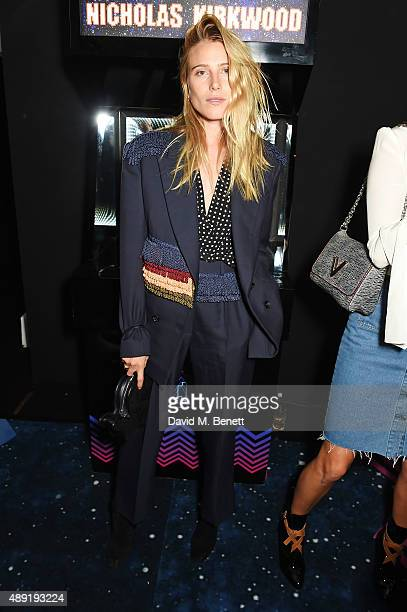 Dree Hemingway attends Nicholas Kirkwood 10 year collection Launch and Party during London Fashion Week on September 19 2015 in London England