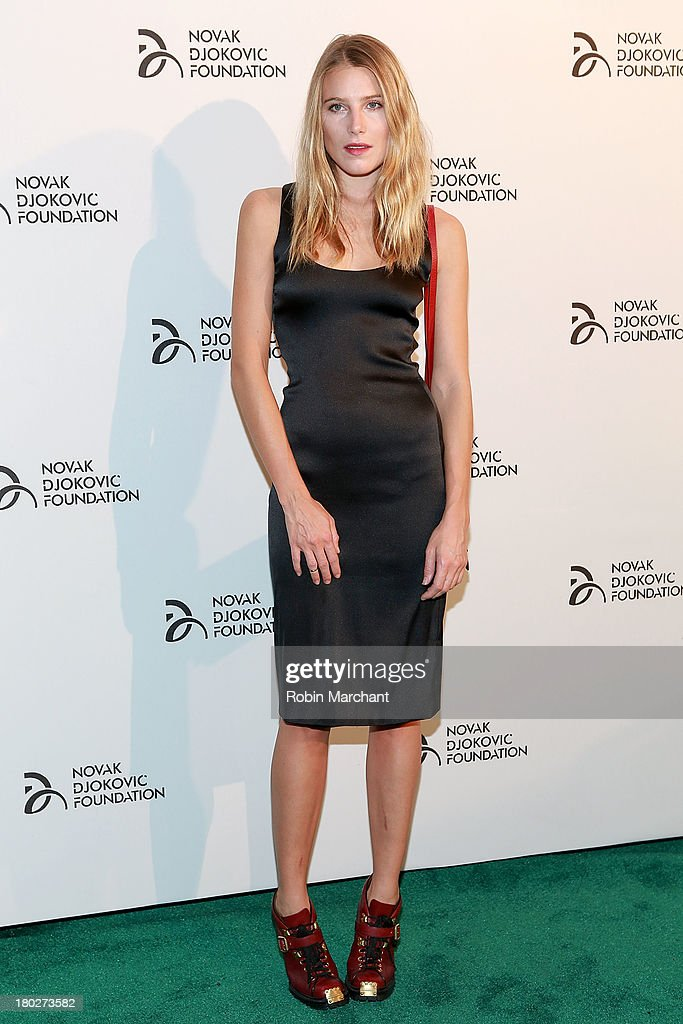 <a gi-track='captionPersonalityLinkClicked' href=/galleries/search?phrase=Dree+Hemingway&family=editorial&specificpeople=5650645 ng-click='$event.stopPropagation()'>Dree Hemingway</a> attends the 2013 Novak Djokovic Dinner at Capitale on September 10, 2013 in New York City.