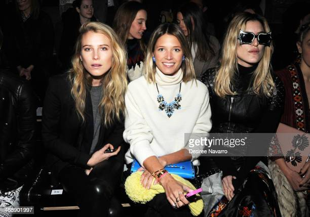 Dree Hemingway Helena Bordon and Ioanna Gika attend the Diesel Black Gold Show during MercedesBenz Fashion Week Fall 2014 at Skylight at Moynihan...
