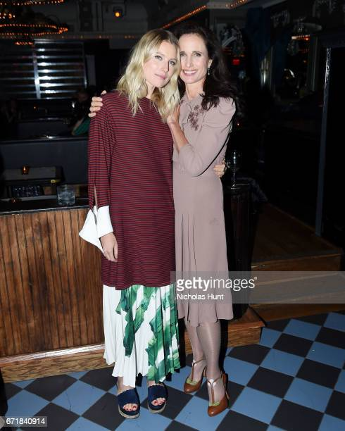 Dree Hemmingway and Andie McDowell attend the 2017 Tribeca Film Festival After Party For Love After Love At Up And Down at UpDown on April 22 2017 in...