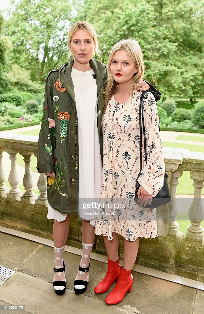 Dree Hemmingway and Sophie Kennedy Clark attend the Creatures of the Wind Resort 2017 collection and runway show presented by Farfetch at Spencer House on June 29, 2016 in London, England.
