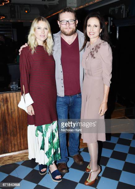 Dree Hemmingway James Adomian and Andie MacDowell attend the 2017 Tribeca Film Festival After Party For Love After Love At Up And Down at UpDown on...