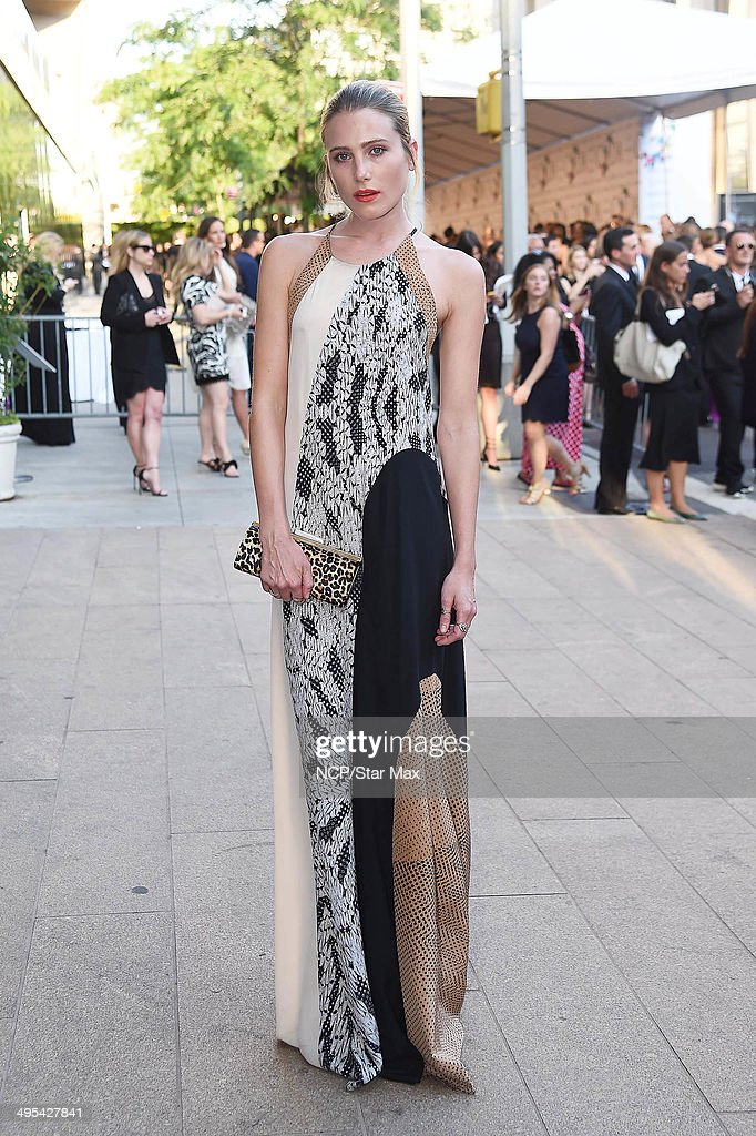 Dreee Hemingway is seen on June 2, 2014 arriving at The 2014 CFDA Fashion Awards in New York City.