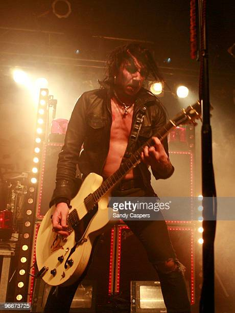 Dregen of Backyard Babies perform on stage at Backstage on February 13 2010 in Munich Germany