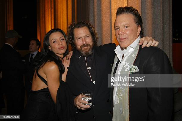 Drena De Niro Julian Schnabel and Mickey Rourke attend VANITY FAIR Tribeca Film Festival Party hosted by Graydon Carter and Robert DeNiro at The...