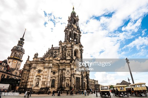 Dresden Cathedral : Stock Photo