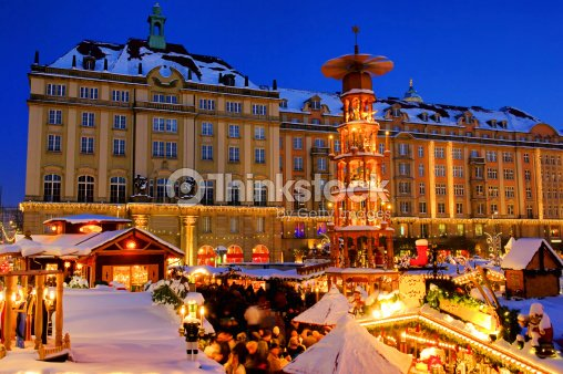 dresden christmas market stock photo