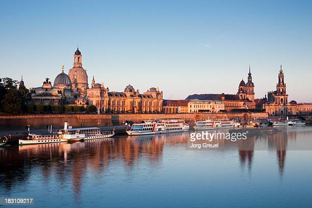 Dresden skyline at sunrise