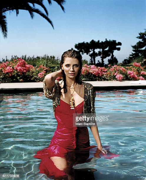 Dress by BCBG Max Azria capelet by Lulu Guinness necklace by Ryan Kozar Styling by Jorge Ramon hair by David Cox for Redken/celestineagencycom makeup...