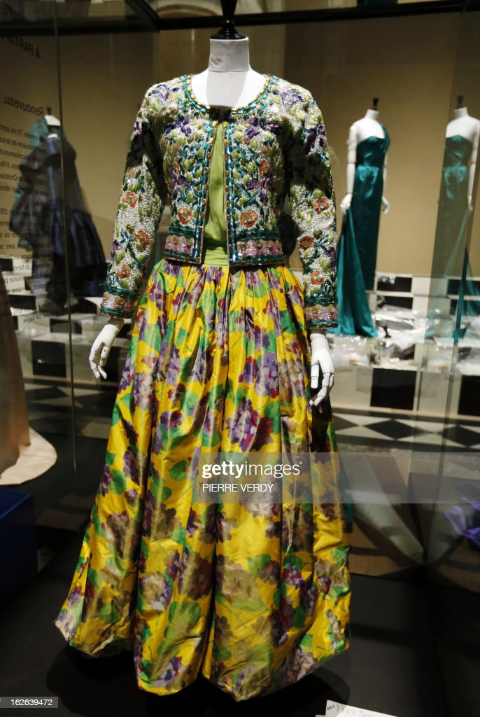 A dress by French designer Yves Saint Laurent is on display in the storage of the Galliera fashion museum in Paris on February 25, 2013.