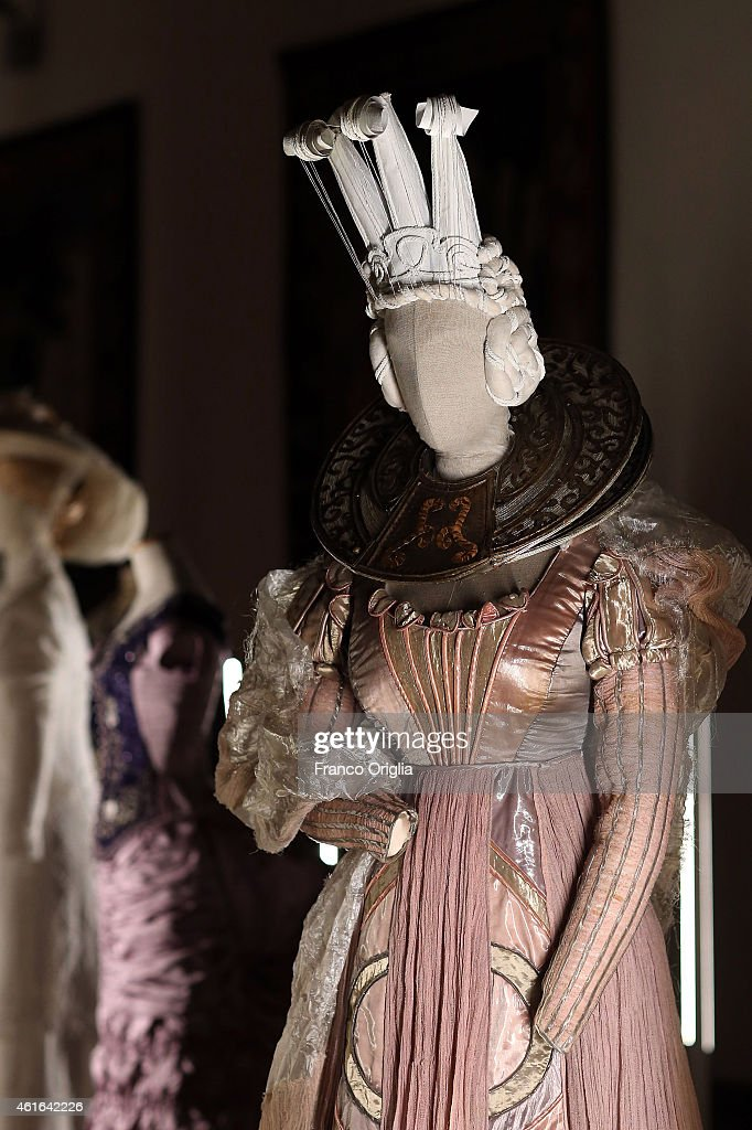 Dress by Italian costume Gabriella Pescucci designer worn by Valentina Cortese for the movie 'The Adventures of Baron Munchausen' by Terry Gilliam is...