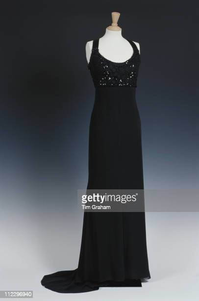 Dress designed by fashion designer Jacques Azagury for Diana Princess of Wales on display at Kensington Palace London England Great Britain 1...