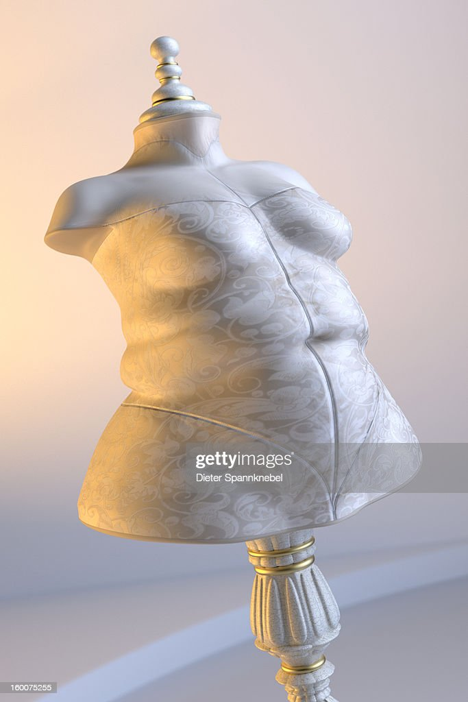 Dress form in shape of an overweight woman