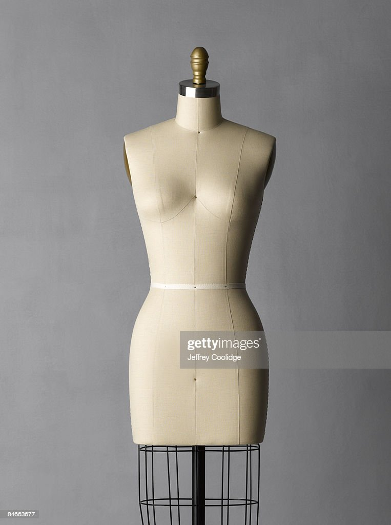 Dress form on grey background