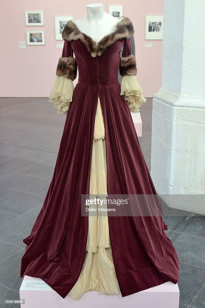 A dress from the 1959 movie Katia is shown as part of The Romy Schneider Exhibition at Caermersklooster on October 11, 2012 in Ghent, Belgium.