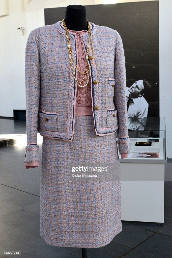A dress from the 2009 movie Romy is shown as part of The Romy Schneider Exhibition at Caermersklooster on October 11, 2012 in Ghent, Belgium.