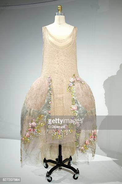 A dress on display at the 'Manus x Machina Fashion in an Age of Technology' press preview at the Metropolitan Museum of Art on May 2 2016 in New York...