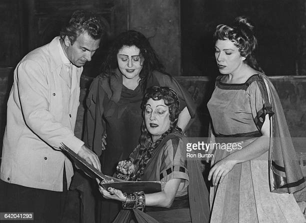 A dress rehearsal for Richard Strauss' opera 'Elektra' at the Royal Opera House Covent Garden London 15th November 1957 From left to right German...