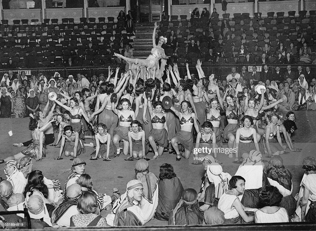 Dress rehearsal for the play THE STORY OF ELIJAH in the Albert Hall / London Ballet scene 12th February 1934 Photograph