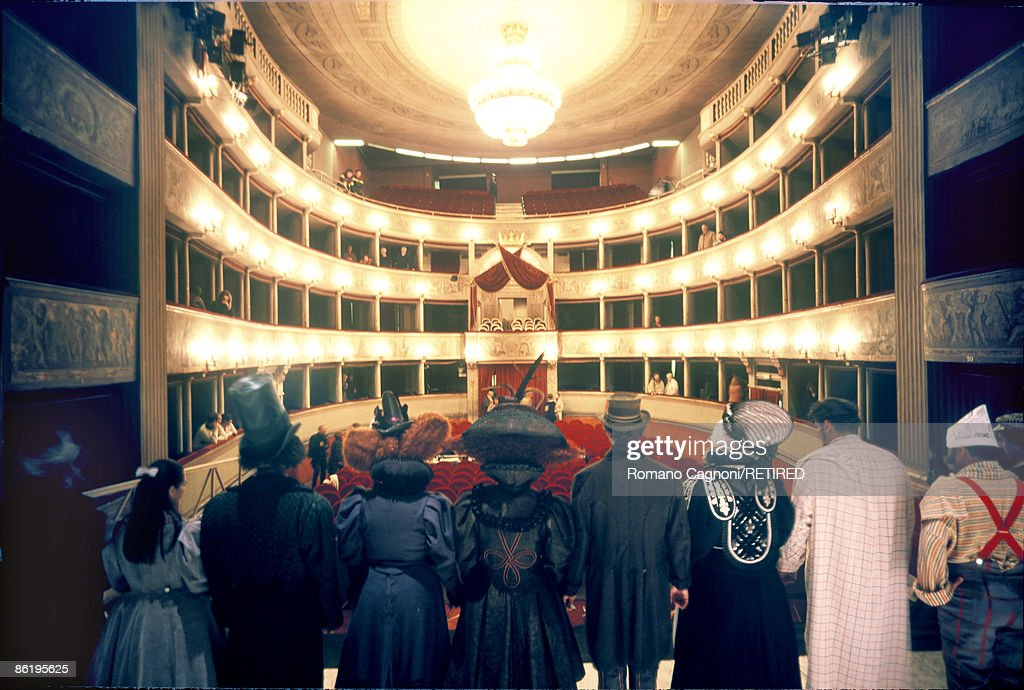 A dress rehearsal for the Puccini oneact opera 'Gianni Schicchi' at the Teatro del Giglio in Lucca 2007 Italian composer Giacomo Puccini was born in...