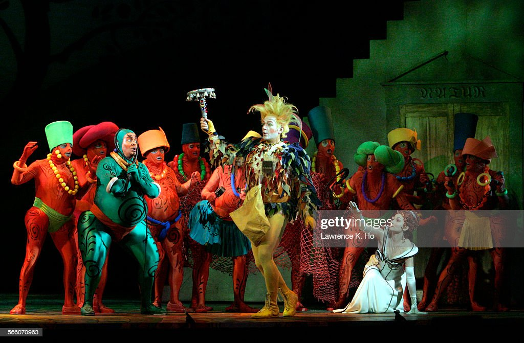 Dress rehearsal of the FIRST CAST of Los Angeles Opera's The Magic Flute at the Dorothy Chandler Pavilion on Jan 7 2009 Greg Fedderly as Monostatos...