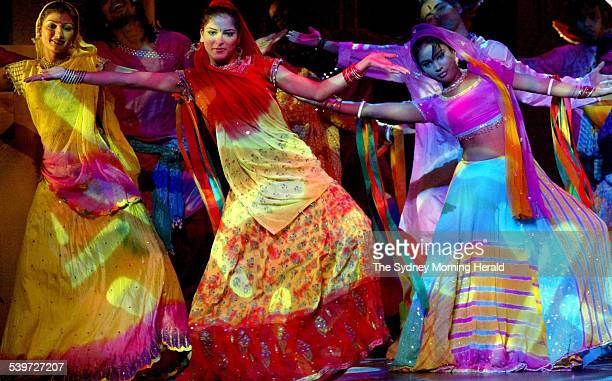 A dress rehearsal of The Merchants of Bollywood at the Enmore Theatre 27 September 2005 SMH Picture by EDWINA PICKLES