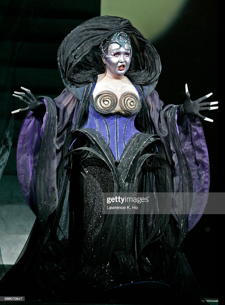 Dress rehearsal of the SECOND CAST of Los Angeles Opera's The Magic Flute at the Dorothy Chandler Pavilion on Jan 8 2009 Albina Shagimuratova as The...