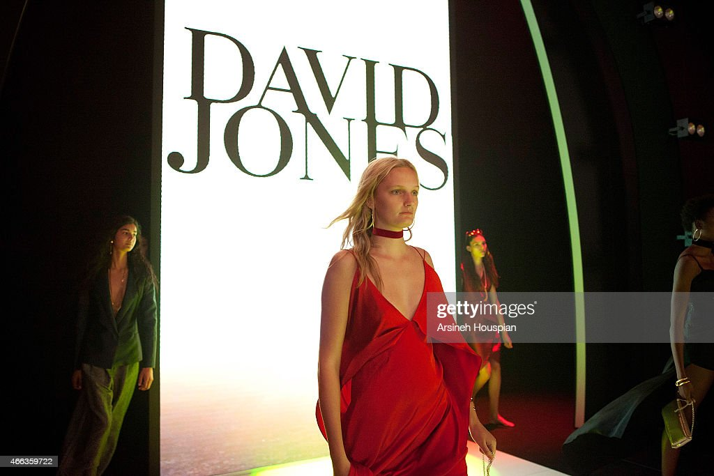 Dress rehersal of the show at David Jones Opens the 2015 Melbourne Fashion Festival on March 14 2015 in Melbourne Australia