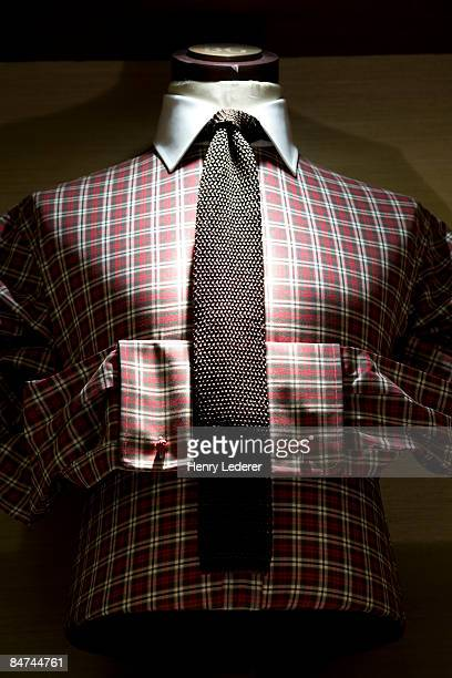 dress shirt and tie on mannequin