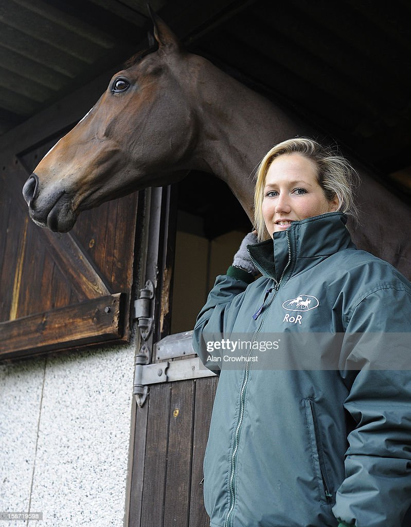 Dressage rider Laura Collett with Kauto Star at Kempton racecourse on December 26, 2012 in Sunbury, England.