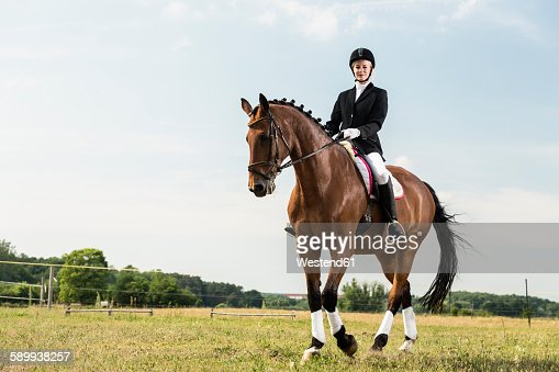 Dressage rider on horse