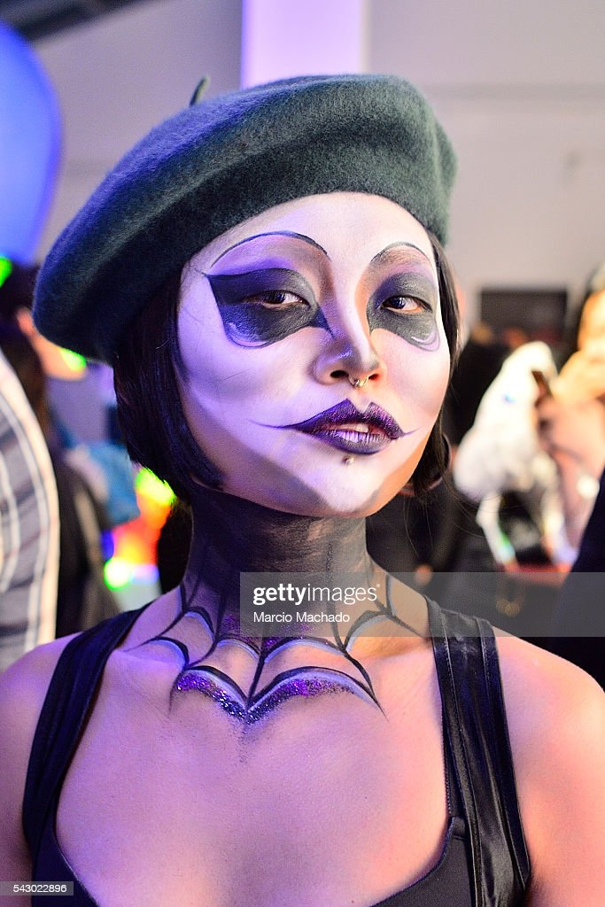 A dressed fan of American Film Director Tim Burton during the launch of The World of Tim Burton on June 25, 2016 in Shanghai, China.