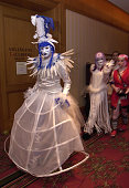 Dressed in fancy costumes enthusiasts arrive at the 11th annual Katsucon one of 70 conferences scheduled this year in the US devoted to mangas anime...