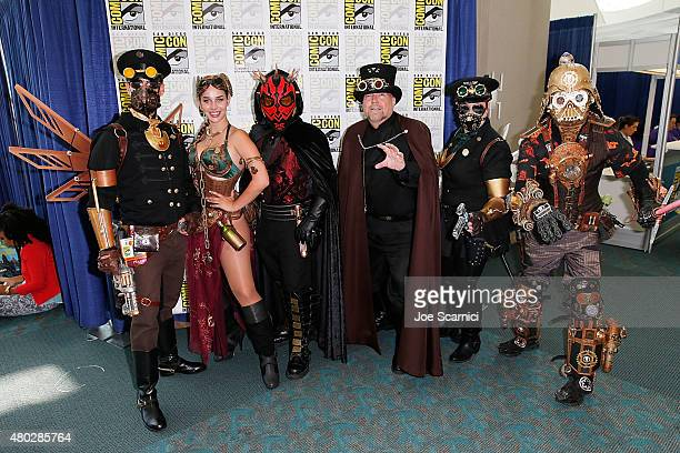 A dressed up fan attends ComicCon International 2015 Day 2 at the San Diego Convention Center on July 10 2015 in San Diego California