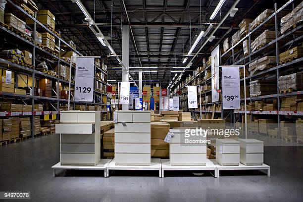 Dressers sit on display inside an Ikea store in the Red Hook neighborhood of Brooklyn New York US on Wednesday July 22 2009 Ikea is the world's...