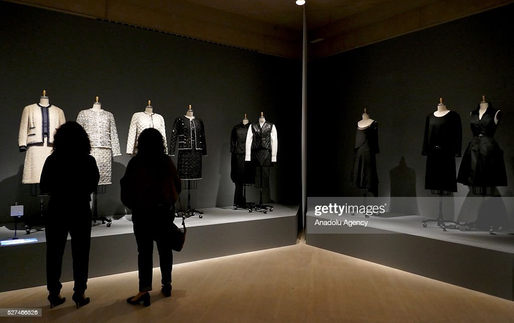 Dresses are displayed on a mannequins during the 'Manus x Machina: Fashion In An Age Of Technology' Costume Institute Gala at Metropolitan Museum of Art on May 2, 2016 in New York City, United States.