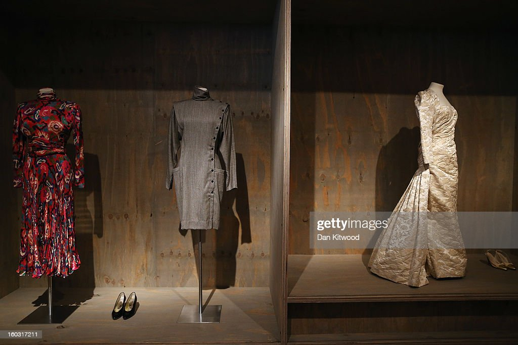 Dresses donated by Design Museum trustee Jill Ritblat are displayed at the Design Museum on January 29, 2013 in London, England. Design Museum trustee Lady Ritblat has donated over 400 fashion items to the museum including dresses by Alexander McQueen and Chanel, and go on show in the Design Museum's permanent collection from today.