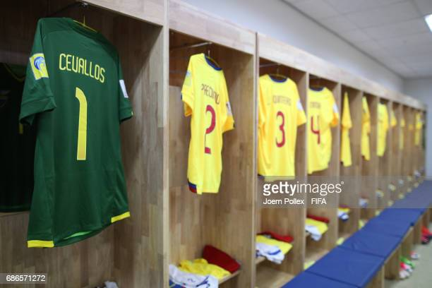 Dressing room of Ecuador ahead of the FIFA U20 World Cup Korea Republic 2017 group F match between Ecuador and USA at Incheon Munhak Stadium on May...
