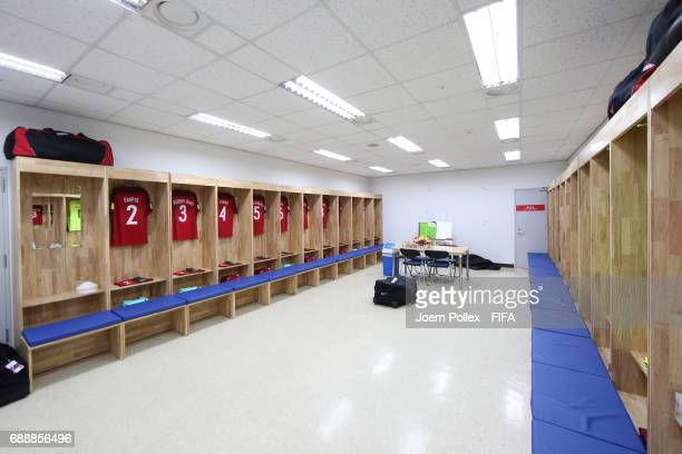 Dressing room of Portugal ahaed the FIFA U20 World Cup Korea Republic 2017 group C match between Portugal and Iran at Incheon Munhak Stadium on May...