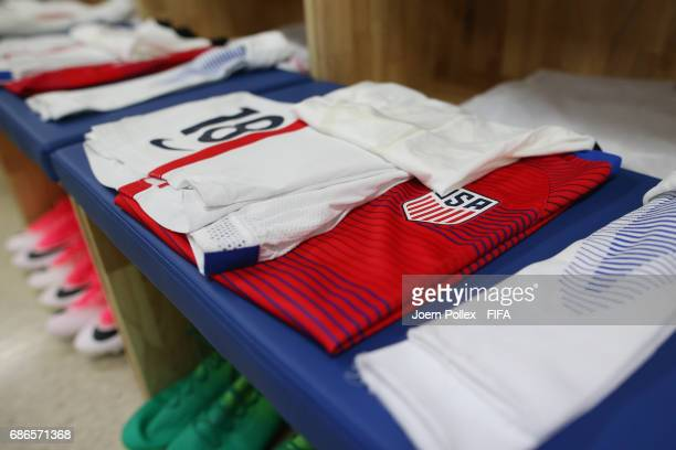 Dressing room of USA ahead of the FIFA U20 World Cup Korea Republic 2017 group F match between Ecuador and USA at Incheon Munhak Stadium on May 22...