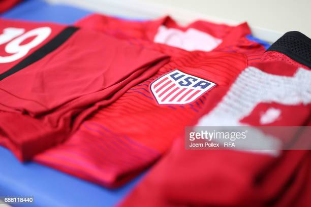 Dressing room of USA before the FIFA U20 World Cup Korea Republic 2017 group F match between Senegal and USA at Incheon Munhak Stadium on May 25 2017...